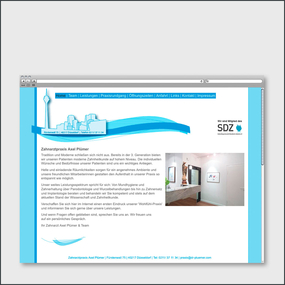 Website for the german dentist Axel Pluemer
