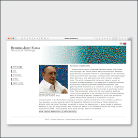 artist website for professor Hermann-Josef Kuhna, www.hj-kuhna.com