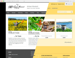 website for The Hebridean Mustard Company, www.hebrideanmustard.com